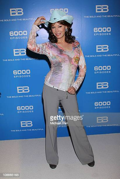 """Lesley-Anne Down attends """"The Bold And The Beautiful"""" 6,000th episode celebration held at CBS Studios on February 7, 2011 in Los Angeles, California."""