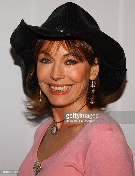 Lesley-Anne Down during CBS and UPN 2005 TCA Party - Arrivals at Quixote Studios in Los Angeles, California, United States.