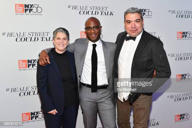 Lesli Klainberg director Barry Jenkins and Eugene Hernandez attend the US premiere of 'If Beale Street Could Talk' during the 56th New York Film...