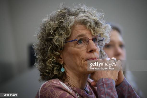 Leslie Aizenman Director Refugee Immigrant Services for the JFCS speaks to media on Tuesday October 30 2018 in Squirrel Hill
