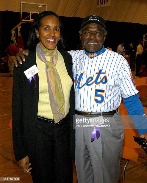 Leslie Allen, former Pro tennis player and Ed Charles, third baseman from the 1969 Mets World Series team