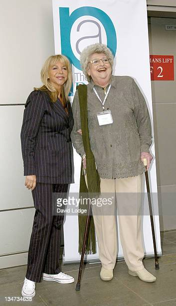 Leslie Ash and Claire Rayner during Clean Hospitals Summit Photocall at Hilton London Metropole Hotel in London United Kingdom