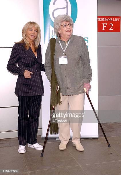 Leslie Ash and Claire Rayner during Cleaner Hospitals Summit April 14 2005 at Hilton London Metropole Hotel in London Great Britain