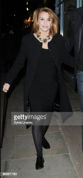 Leslie Ash arrives at her 50th Birthday Party held at the JuJu Bar on February 19 2010 in London England