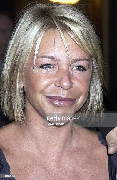 Leslie Ash attends the Saatchi Gallery Opening in County Hall on April 16 2003 in London