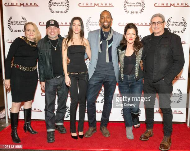 Leslie Bates Vince Lozano Neraida Bega Treva Etienne Kira Reed Lorsch and Richard Friedman attend a screening of Acts Of Desperation At Culver City...