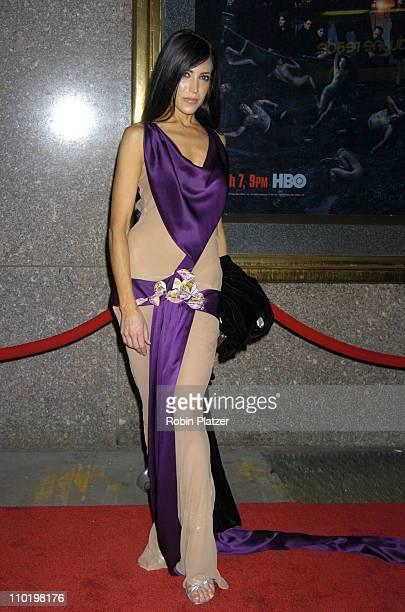 Leslie Bega during 'The Sopranos' Fifth Season Premiere at Radio City Music Hall in New York City New York United States