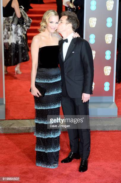 Leslie Bibb and Sam Rockwell attend the EE British Academy Film Awards held at Royal Albert Hall on February 18 2018 in London England