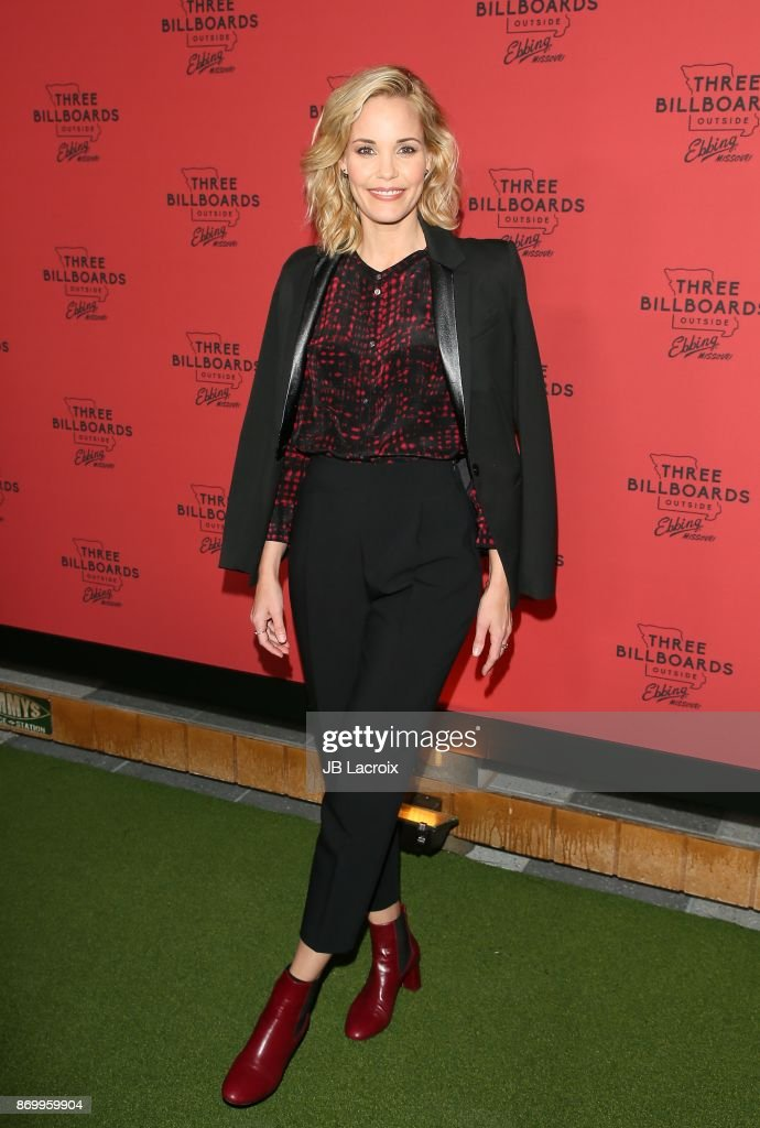 Leslie Bibb attends the premiere of Fox Searchlight Pictures' 'Three Billboards Outside Ebbing, Missouri' on November 03, 2017 in Los Angeles, California.
