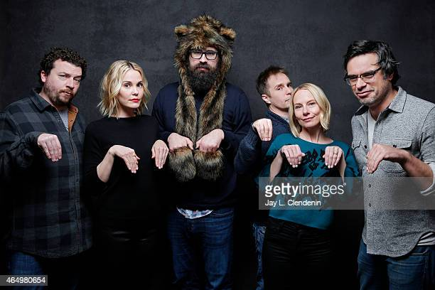Leslie Bibb Danny McBride Sam Rockwell Jared Hess Jemaine Clement and Amy Ryan from the film 'Don Verdean' pose for a portrait for the Los Angeles...