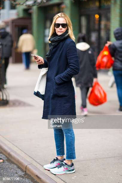 Leslie Bibb is seen in the East Village on February 24 2018 in New York City