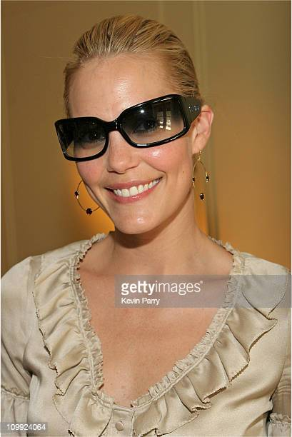 Leslie Bibb wearing Miu Miu Luxottica during Luxottica Luxury Eyewear Suite at the HBO Luxury Lounge Day 1 at The Peninsula Hotel in Beverly Hills...