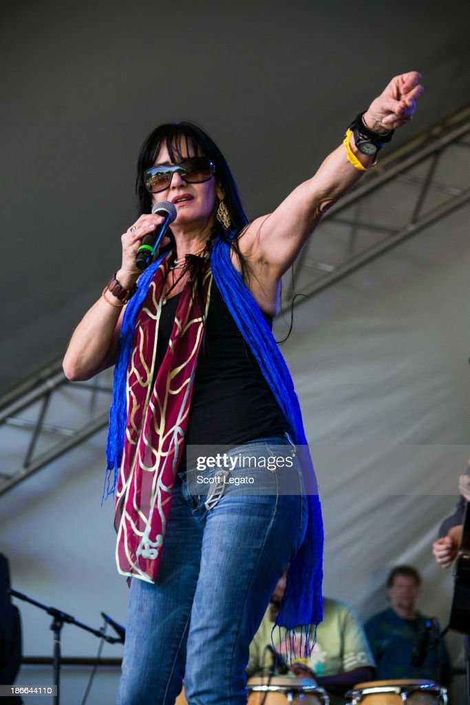 Leslie Blackshear Smith & Double Black perform at the 2013 Voodoo Music + Arts Experience at City Park on November 2, 2013 in New Orleans, Louisiana.