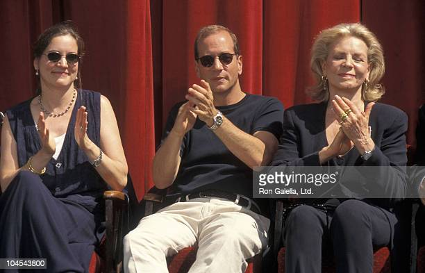 Leslie Bogart Bruce Willis and Lauren Bacall during Humphrey Bogart Postage Stamp Premieres at Mann Chinese Theatre in Hollywood California United...