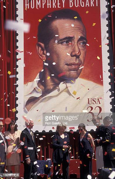 Leslie Bogart Stephen Bogart and actress Lauren Bacall attend Humphrey Bogart Stamp Unveiling Ceremony on July 31 1997 at Mann Chinese Theater in Los...