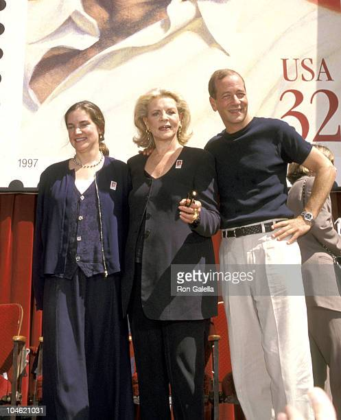 Leslie Bogart Stephen Bogart and Lauren Bacall during Humphrey Bogart Postage Stamp Premieres at Mann Chinese Theatre in Hollywood California United...