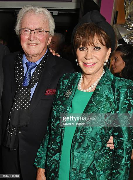 Leslie Bricusse and wife Yvonne Romain attend the press night of Pure Imagination The Songs of Leslie Bricusse at the St James Theatre on September...