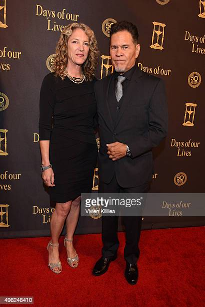Leslie Bryans and actor A Martinez attend the Days Of Our Lives' 50th Anniversary Celebration at Hollywood Palladium on November 7 2015 in Los...