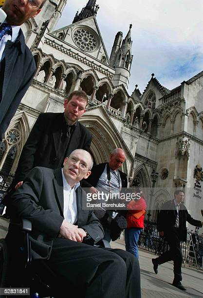 Leslie Burke from Lancaster who has a degenerative brain condition is seen outside The Court of Appeal May 16 2005 in London England The debate over...