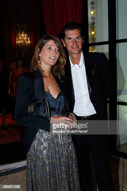 Leslie Cabanes and Jean Sebastien Baschet attend the Grand Bal de Deauville For Care France Association with Dior in Casino Barriere de Deauville on...