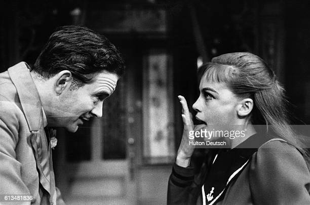 Leslie Caron and Tony Britton in a scene from the London production of Gigi based on the novel by Colette which was also made into a successful film
