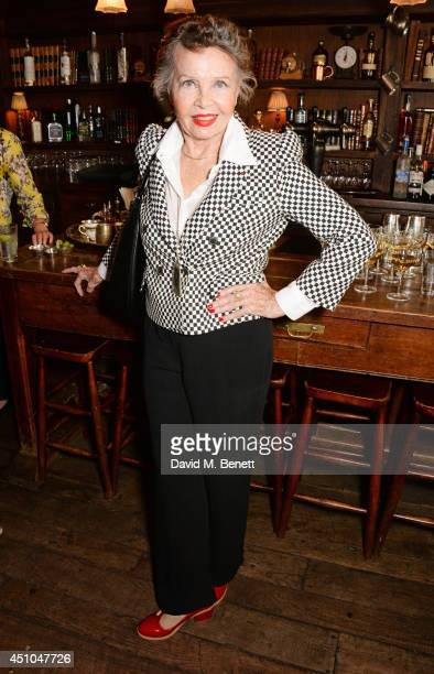 Leslie Caron attends 'In Conversation With Leslie Caron' supported by Moet & Chandon to benefit FilmAid International at The Electric Cinema on June...