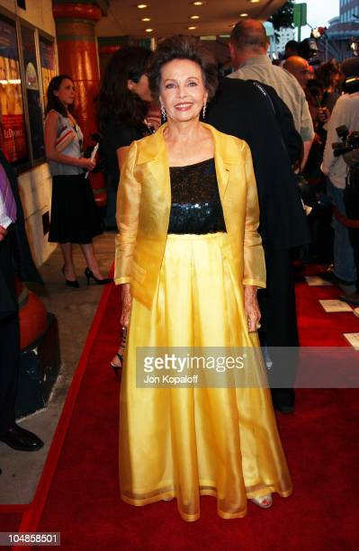 Leslie Caron during 'Le Divorce' Los Angeles Premiere at The Mann Festival Theatre in Westwood California United States