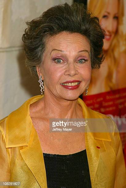 Leslie Caron during 'Le Divorce' Premiere Los Angeles at Mann's Festival Theatre in Westwood California United States
