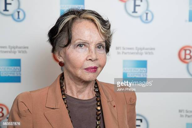 """Leslie Caron introduces """"La Regle Du Jeu"""" as part of the BFI Screen Epiphany seires at BFI Southbank on July 26, 2016 in London, England."""