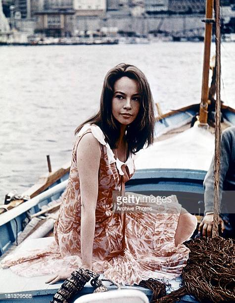Leslie Caron sits on a boat in a scene from the film 'Fanny' 1961