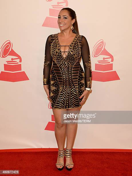 Leslie Cartaya arrives at the 2013 Latin Recording Academy Person Of The Year honoring Miguel Bose at the Mandalay Bay Convention Center on November...