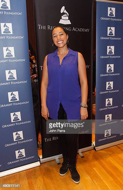 Leslie Cartaya attends the GRAMMY Camp at Frost School of Music at the University of Miami on May 15, 2014 in Coral Gables, Florida.
