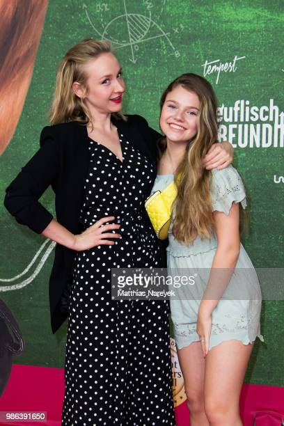 Leslie Clio and Faye Montana attends the 'Meine teuflisch gute Freundin' Premiere at Cinemaxx on June 28 2018 in Berlin Germany