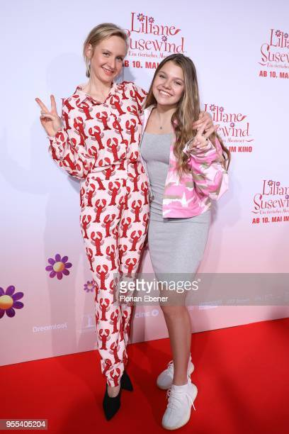 Leslie Clio and Faye Montana during the premiere of 'Liliane Susewind Ein tierisches Abenteuer' at Cinedom on May 6 2018 in Cologne Germany