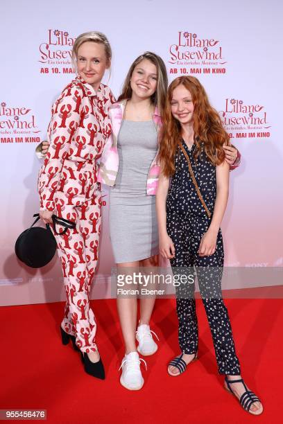 Leslie Clio Faye Montana and Malu Leicher during the premiere of 'Liliane Susewind Ein tierisches Abenteuer' at Cinedom on May 6 2018 in Cologne...