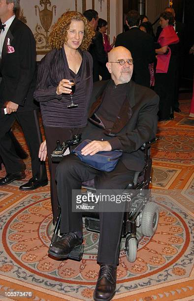 Leslie Close and Chuck Close during HOT PINK PARTY Hosted by Elizabeth Hurley and Sir Elton John at Waldorf Astoria Hotel in New York City New York...