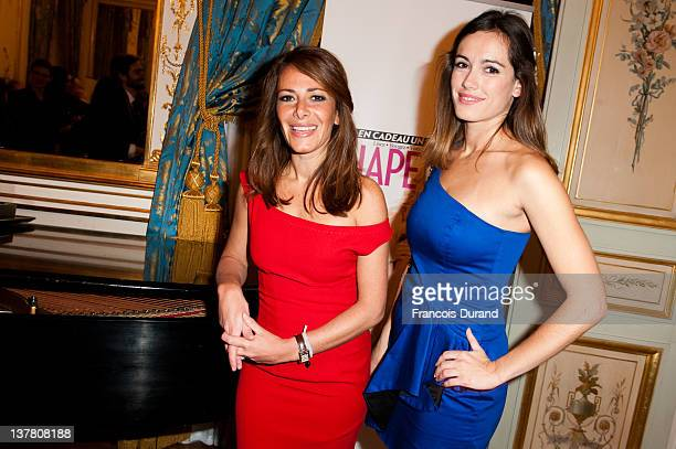 Leslie Coutterand and Elsa Fayer attend the 'Shape France' Magazine Cocktail Launch at Hotel Talleyrand on January 19 2012 in Paris France