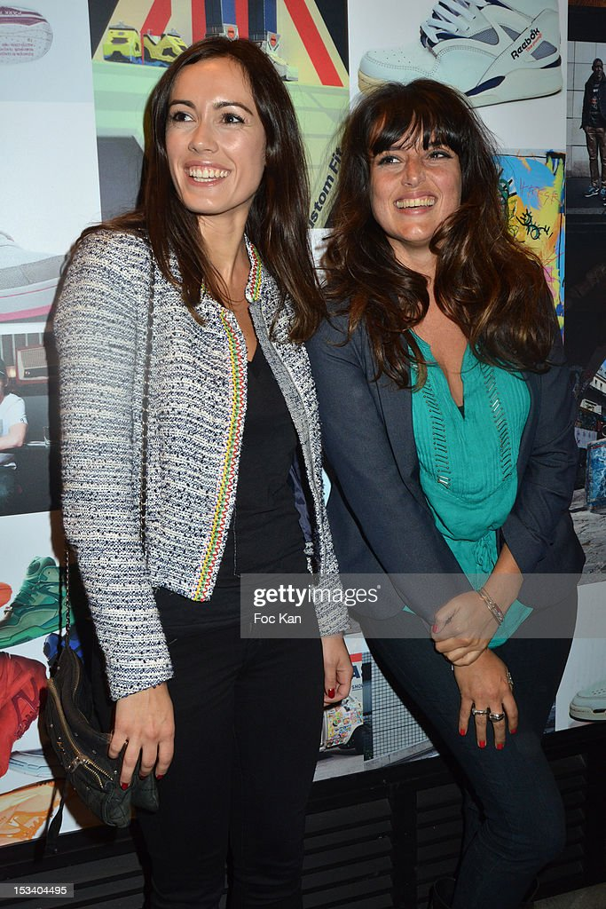 Leslie Coutterand and Marie Laure Estragnat attend the Reebok Ephemeral Beaubourg Flagship Store Opening Party at LÕImprimerie October 4, 2012 in Paris, France.