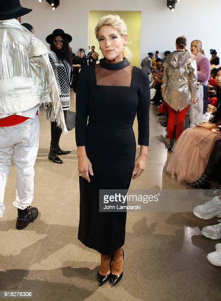 Leslie DiNicola attends Leanne Marshall show during February 2018 New York Fashion Week The Shows at Gallery II at Spring Studios on February 14 2018...