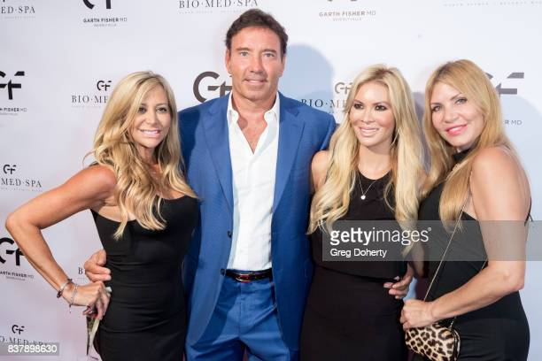 Leslie Dr Garth Fisher Chanel Lee and Gisela attend the Official Launch Party Of Dr Garth Fisher's BioMed Spa at Garth Fisher MD on August 22 2017 in...