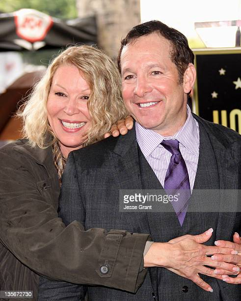 Leslie Easterbrook and Steve Guttenberg attend the ceremony honoring Actor Steve Guttenberg with a Star on The Hollywood Walk of Fame held on...