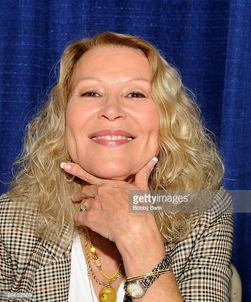 Leslie Easterbrook attends the 2013 Rhode Island Comic Con at Rhode Island Convention Center on November 2 2013 in Providence Rhode Island