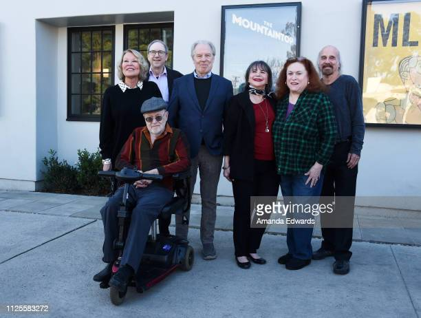 Leslie Easterbrook Lowell Ganz David L Lander Michael McKeon Cindy Williams Carole Ita White and Fred Fox Jr attend the Laverne Shirley Marathon A...