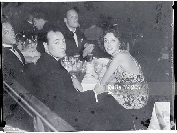 Leslie Fenton and his wife Ann Dvorak one of the movie capital's most happilymarried couples are shown as they appeared at a recent party given for...