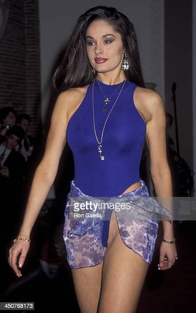 Leslie Glass attends Penthouse Pets Swimsuit Pool Party Video Launch on January 31 1995 in New York City