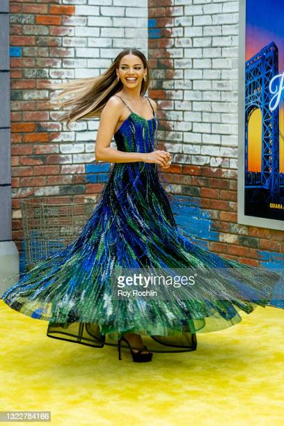 """Leslie Grace attends """"In The Heights"""" 2021 Tribeca Festival opening night premiere at United Palace Theater on June 09, 2021 in New York City."""