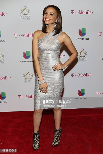 Leslie Grace attends the 2015 Premios Lo Nuestros Awards at American Airlines Arena on February 19 2015 in Miami Florida