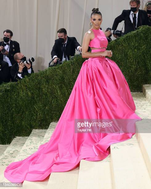 """Leslie Grace attends the 2021 Met Gala benefit """"In America: A Lexicon of Fashion"""" at Metropolitan Museum of Art on September 13, 2021 in New York..."""