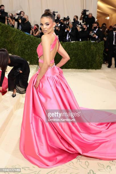 Leslie Grace attends The 2021 Met Gala Celebrating In America: A Lexicon Of Fashion at Metropolitan Museum of Art on September 13, 2021 in New York...