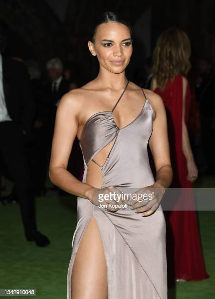 Leslie Grace attends The Academy Museum Of Motion Pictures Opening Gala at Academy Museum of Motion Pictures on September 25, 2021 in Los Angeles,...